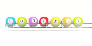 Lottery balls royalty free illustration