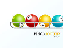 Lottery balls number. Lottery game gamble luck template poster design.  Royalty Free Stock Photography
