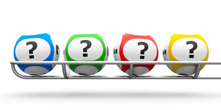 Lottery balls question Royalty Free Stock Photos
