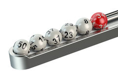 Lottery balls in a row. Isolated on white background royalty free illustration