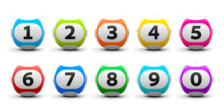 Lottery balls set Royalty Free Stock Photos