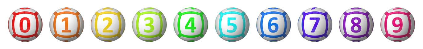 Lottery balls set. Stock Images