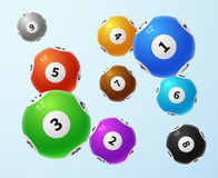 Lottery balls, sports lotto game vector concept Stock Images