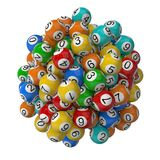 Lottery balls stack. Stock Photo