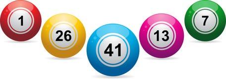 Lottery / bingo balls Royalty Free Stock Image