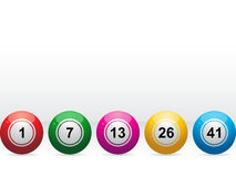 Lottery / bingo balls Stock Photo