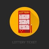 Lottery card icon flat Royalty Free Stock Photo