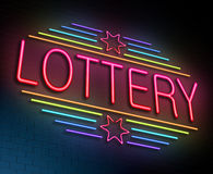 Lottery concept. Royalty Free Stock Images