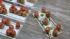 Lottery and gambling. lottery and gambling.ottery and gambling.win big money. Win the lottery. Lotto game. Tabletop old lotto game. Lottery and gambling. lottery royalty free stock photography