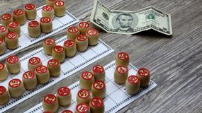 Lottery and gambling. lottery and gambling.ottery and gambling.win big money. Win the lottery. Lotto game. Tabletop old lotto game. Lottery and gambling. lottery stock image