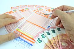 Lottery game in Italy Stock Images