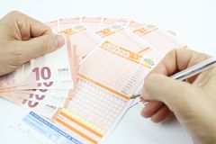 Lottery game in Italy Royalty Free Stock Image