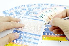 Lottery game in Italy Royalty Free Stock Photography