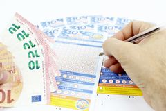 Lottery game in Italy Stock Image