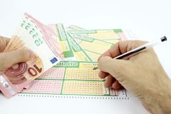 Lottery game in Italy Royalty Free Stock Photo