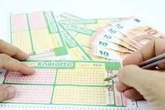 Lottery game in Italy Royalty Free Stock Images