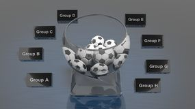 Lottery glass bowl Stock Photos