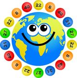 Lottery globe Royalty Free Stock Images