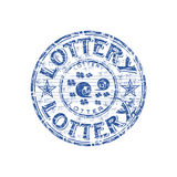 Lottery grunge rubber stamp Stock Photography