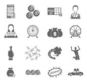 Lottery Icon Set Royalty Free Stock Photo