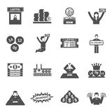 Lottery Icons Set Royalty Free Stock Images