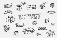 Lottery icons set Royalty Free Stock Photography