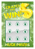 Lottery Instant Scratch Card Royalty Free Stock Images
