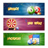 Lottery Jackpot Banners Set stock illustration