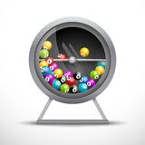 Lottery machine with lottery balls inside. Lotto game luck concept Royalty Free Stock Photography