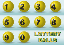 Lottery numbers Stock Images