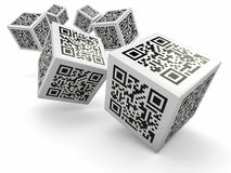 Lottery, Qr code cubes as dice royalty free illustration