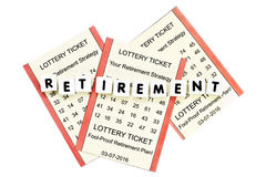 Lottery Retirement Royalty Free Stock Photos