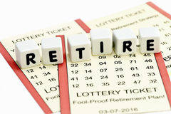 Lottery Retirement Stock Photography
