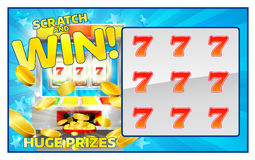Lottery Scratch and Win Card Stock Photography