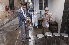 Lottery seller Stock Photo