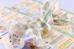 Lottery Thailand. BANGKOK THAILAND - 16 AUGUST 2016 :Lottery was dropped after review and was not awarded stock photography