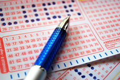 Lottery ticket Royalty Free Stock Photos