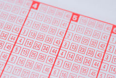 Lottery ticket Stock Images