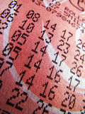 Lottery ticket Royalty Free Stock Photography