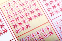 Lottery ticket. Royalty Free Stock Photography