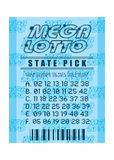 Lottery ticket blue Stock Photo