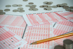 Lottery ticket 2 Stock Image
