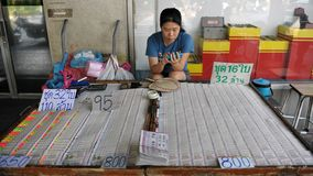 Lottery Ticket Seller in Bangkok Stock Images