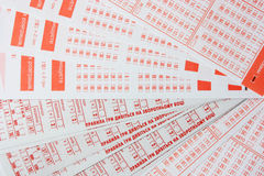 Lottery tickets Stock Photography
