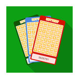 Lottery tickets. Chance to win the jackpot. Gambling in the casino.Kasino single icon in flat style vector symbol stock. Web illustration vector illustration