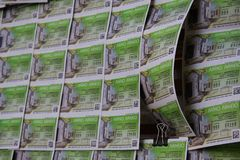 Lottery tickets at the street market royalty free stock photography