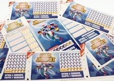 Lottery tickets Super Enalotto Royalty Free Stock Photo