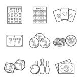 Lottery vector icon set Stock Images