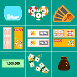 Lottery Vector illustration Royalty Free Stock Photos