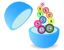 Lottery. The lottery vector on white background Stock Image